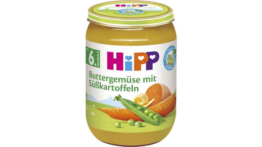 HiPP Gemüse 190g: Buttergemüse mit Süßkartoffeln, ab 6. Monat