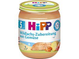 HiPP Fleisch Zubereitungen Wildlachs Zubereitung mit Gemuese