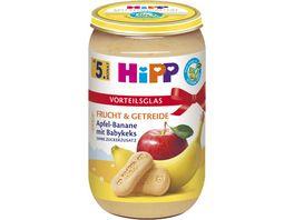 HiPP Frucht Getreide Apfel Banane mit Babykeks