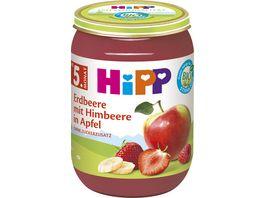 HiPP Fruechte Erbeere mit Himbeere in Apfel 190 g nach dem 4 Monat