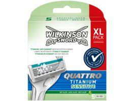 WILKINSON Sword Quattro Titanium SensitiveRasierklingen 5 Stueck