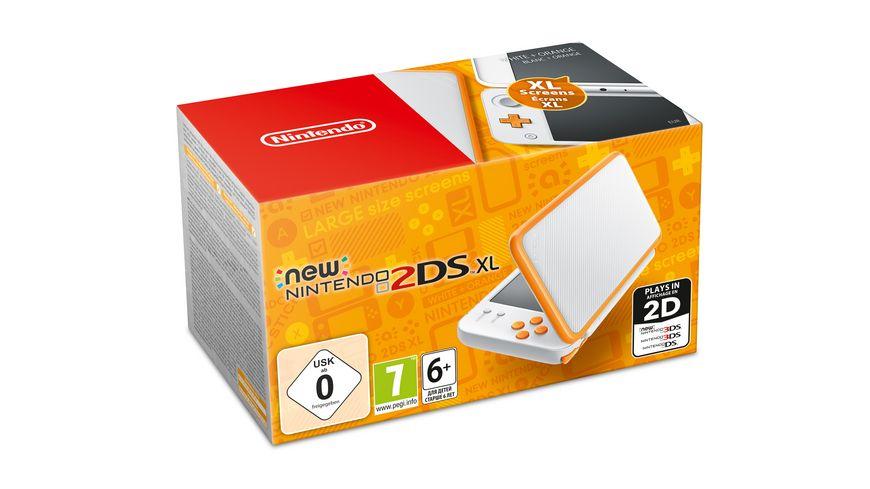 New Nintendo 2DS XL Konsole Weiss Orange