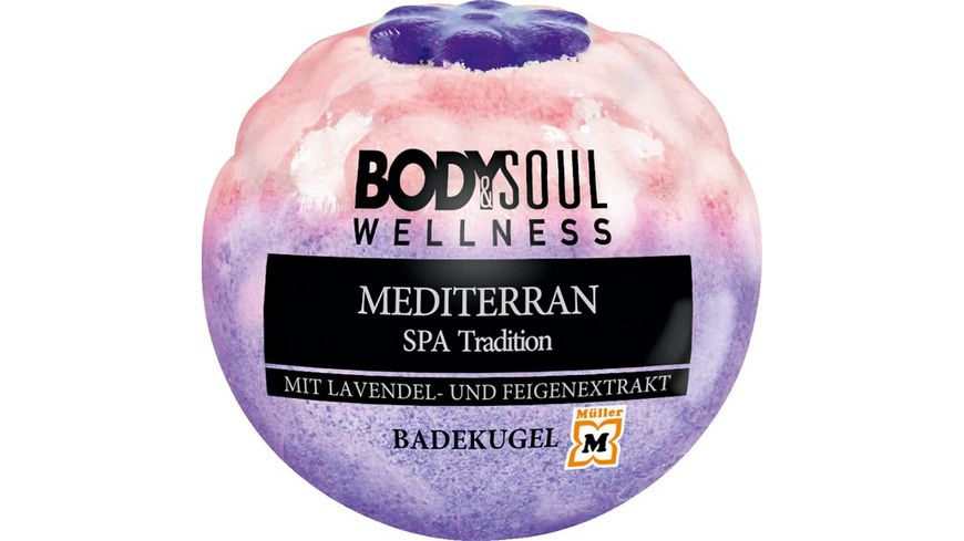 BODY SOUL Badekugel Flower Mediterran