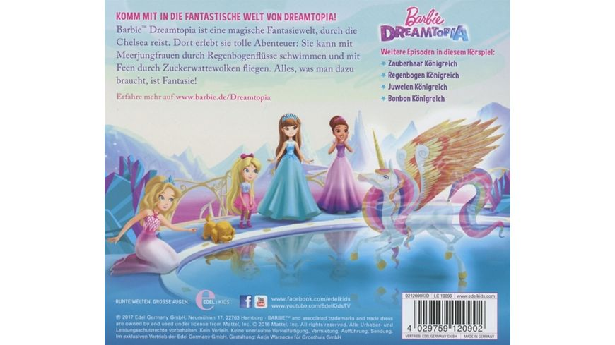 Barbie Dreamtopia Das Original Hoerspiel z Film