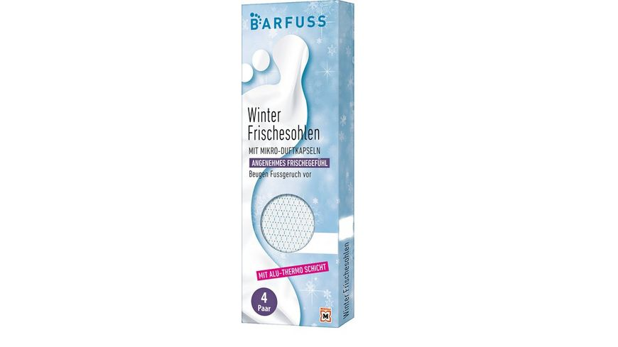 BARFUSS Thermosohlen 36 38 weiss