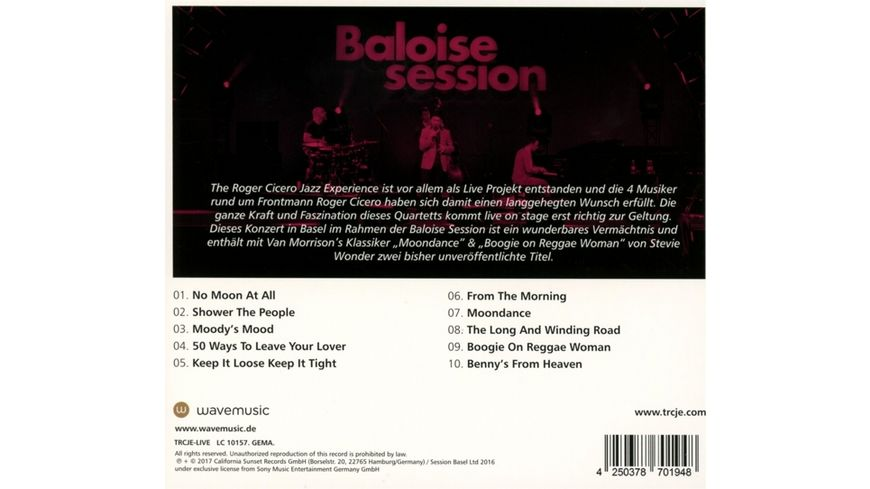 Live in Basel The Baloise Session