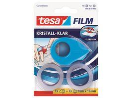 tesafilm Mini Abroller inkl 2x tesafilm kristall klar 10m x 19mm sortiert