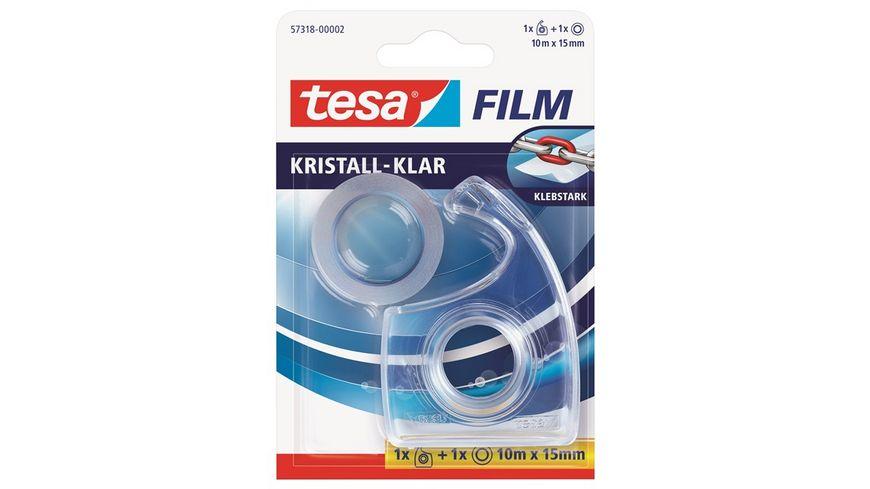 tesa EasyCut Handabroller inkl 1 Rolle tesafilm kristall klar 10m x 15mm