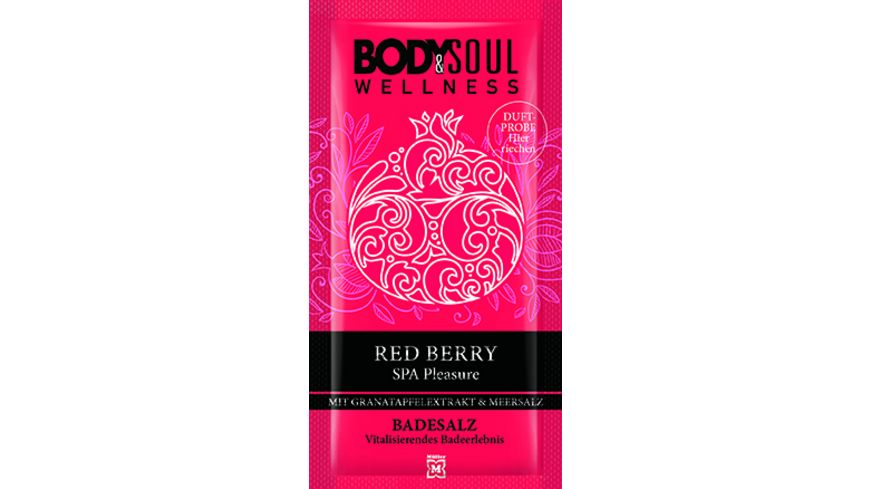 BODY SOUL Badesalz Red Berry