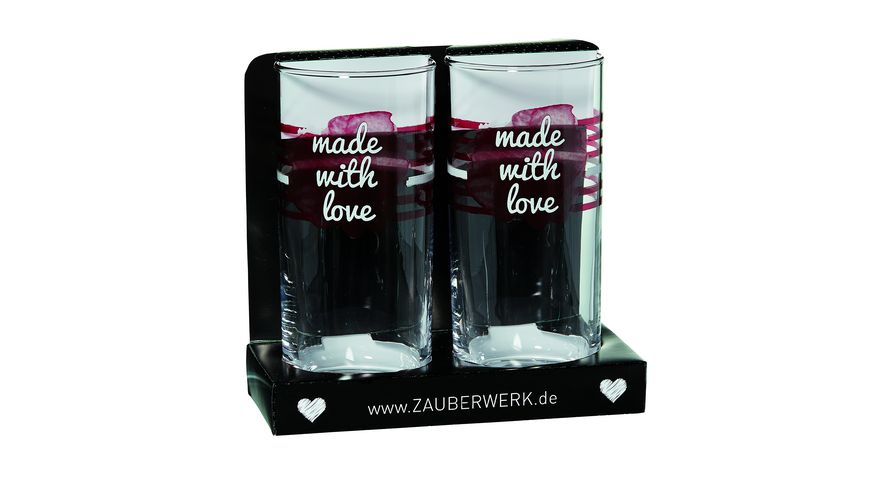 ZAUBERWERK Longdrinkbecher Love 2er Set