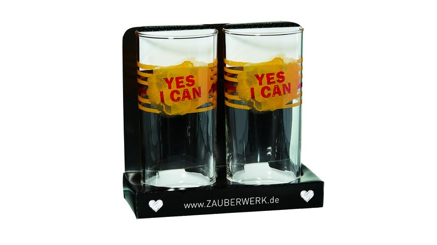 ZAUBERWERK Longdrinkbecher Yes 2er Set