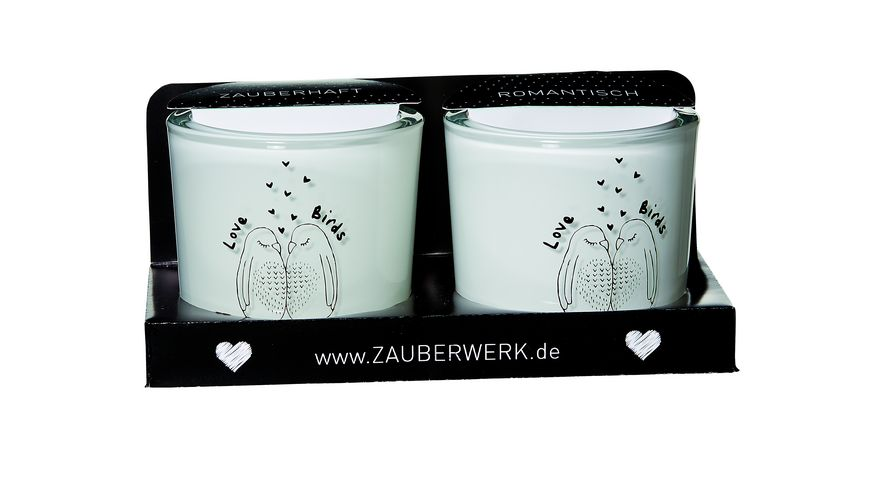ZAUBERWERK Leuchter Lovebirds 2er Set