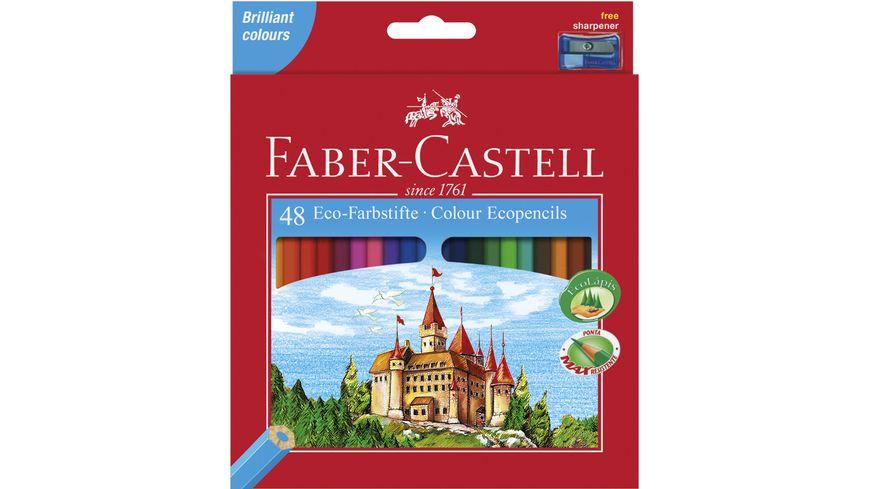 FABER CASTELL Buntstifte Eco im 48er Etui mit Spitzer