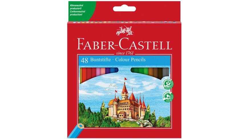 FABER-CASTELL Buntstifte Eco im 48er-Etui mit Spitzer