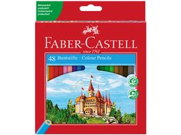 FABER CASTELL Buntstifte Castle im 48er Etui mit Spitzer