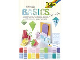 folia Motivblock Basic Intensiv 20 Blatt 24 x 34 cm