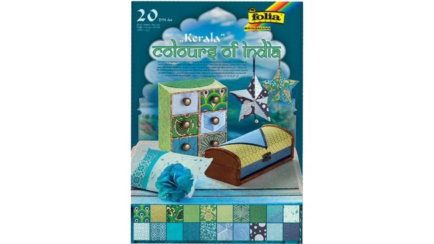 folia Naturpapierblock A4 Colors of India sortiert