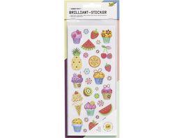 folia Brilliant Sticker Ganzjahressortierung 5 Blatt ca 10 x 23 cm