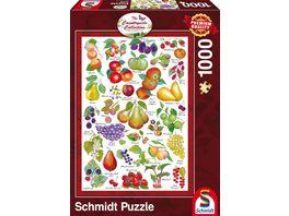 Schmidt Spiele Erwachsenenpuzzle The Countryside Collection Fruechte 1000 teiliges Erwachsenenpuzzle
