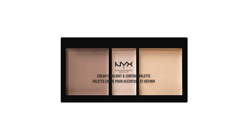 NYX PROFESSIONAL MAKEUP Cream Highlight And Contour Palette