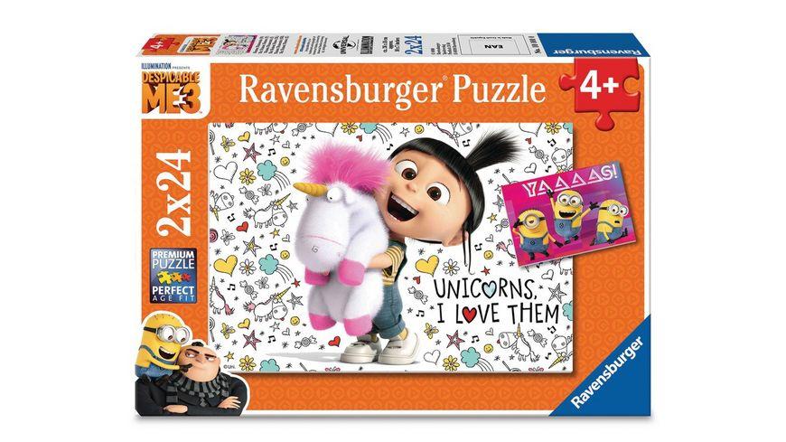 Ravensburger Puzzle Ich Einfach Uverbesserlich 3 Agnes und die Minions 2 x 24 Teile