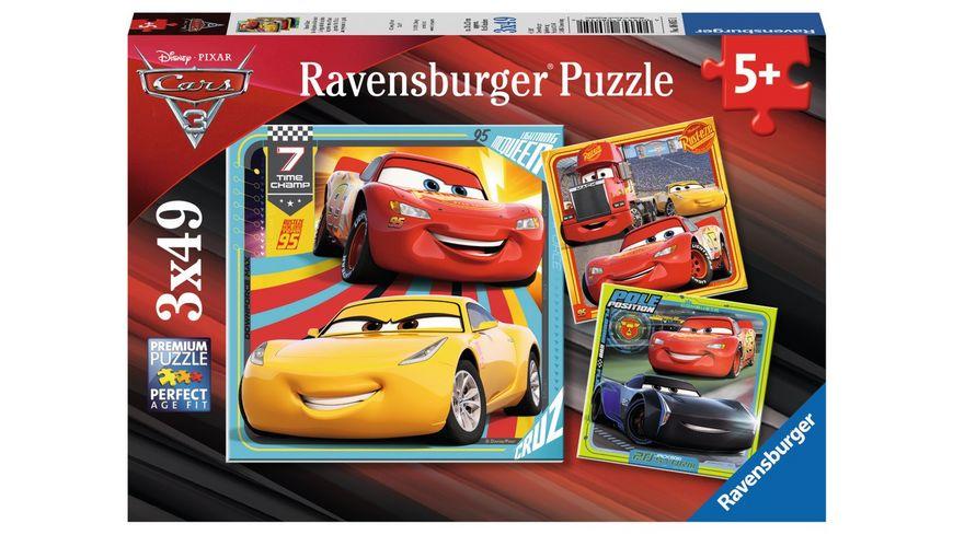 Ravensburger Puzzle Cars 3 Bunte Flitzer 3 x 49 Teile