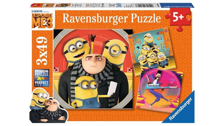 Ravensburger Puzzle Minions Abenteuer mit den Minions 3 x 49 Teile