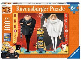Ravensburger Puzzle Minions Gru und Dru XXL 100 Teile