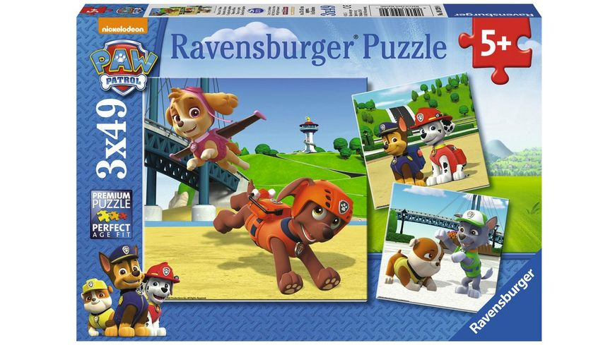 Ravensburger Puzzle Paw Patrol 3 x 49 Teile