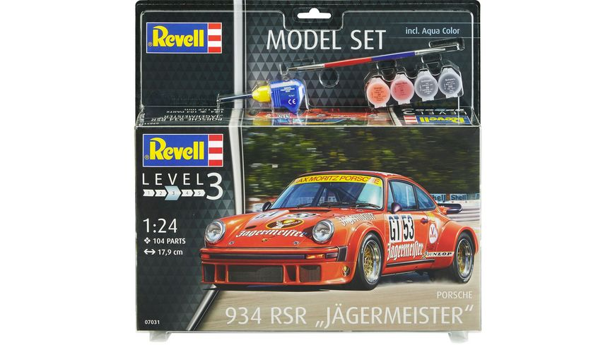 Revell 67031 Model Set Porsche 934 RSR Jaegermeister