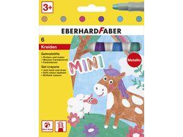 EBERHARD FABER Wachs Gelmalstifte Metallic 6er Etui
