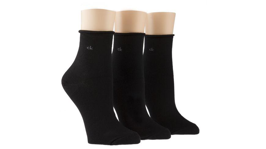 Calvin Klein Damen Kurzsocken 3er Pack