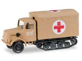 Herpa 745703 Military Magirus Maultier Rotes Kreuz inklusive 2 Krankentragen