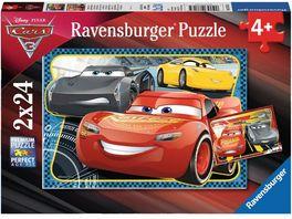 Ravensburger Puzzle Cars 3 Abenteuer mit Lightning McQueen Puzzle 2 x 24 Teile