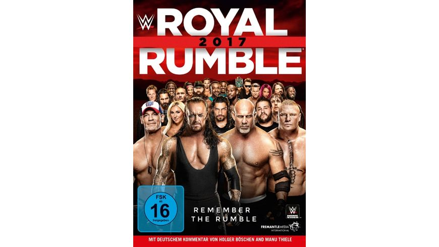 Royal Rumble 2017 Blu ray Disc
