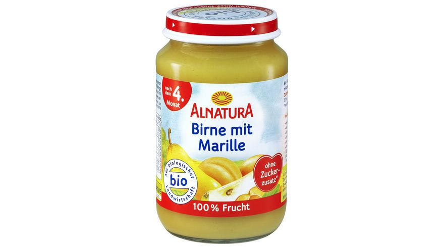 Alnatura Fruechtezubereitung Birne mit Marille