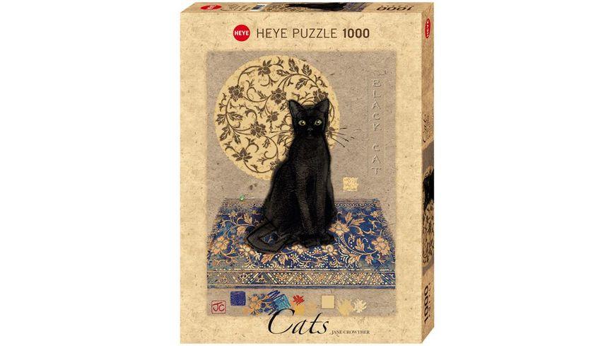 Heye Standardpuzzle 1000 Teile Jane Crowther Black Cat