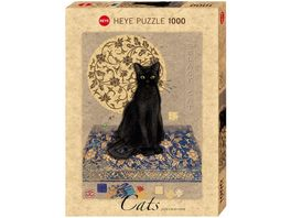 Heye Standardpuzzle 1000 Teile Jane Crowther Black Cat