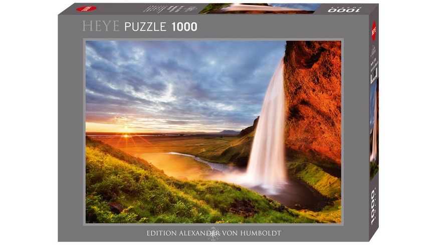 Heye Standardpuzzle 1000 Teile Edition Alexander von Humboldt Seljalandsfoss Waterfall