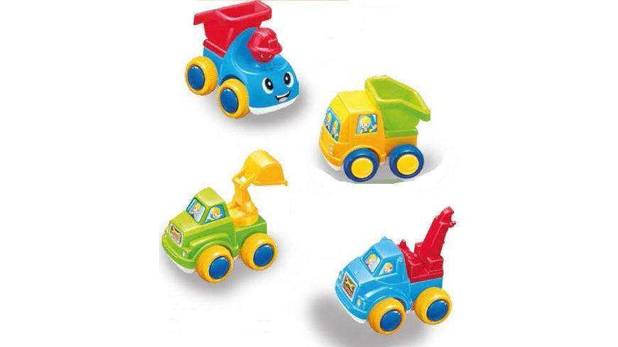 Gutoys City Trucks mit Friktionsmotor 4er Set
