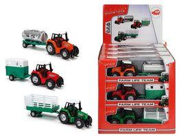 Dickie Farm Traktor mit Anhaenger sortiert