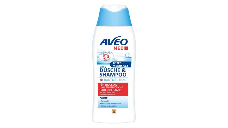 AVEO MED 2in1 Dusche Shampoo Totes Meer Salz