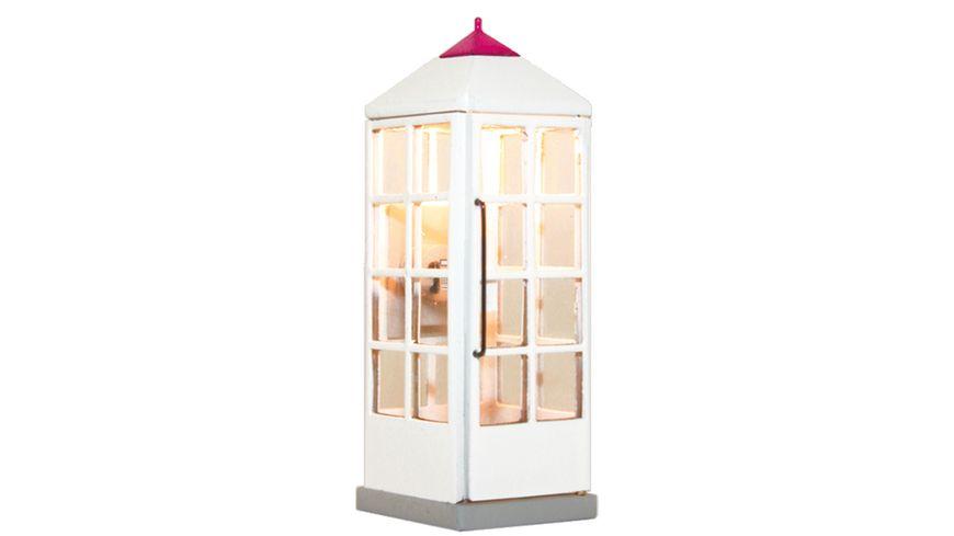 Viessmann 1372 H0 Telefonzelle Telekom geschlossen mit LED Beleuchtung ersetzt 5072