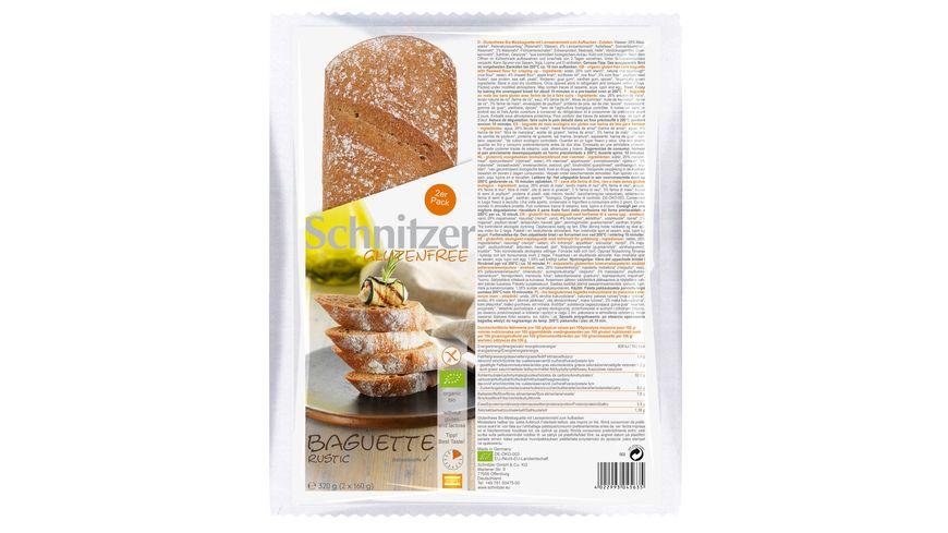 Schnitzer Glutenfree Bio BAGUETTE RUSTIC