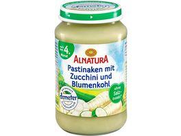 Alnatura Babyglaeschen Brei Pastinaken mit Zucchini und Blumenkohl