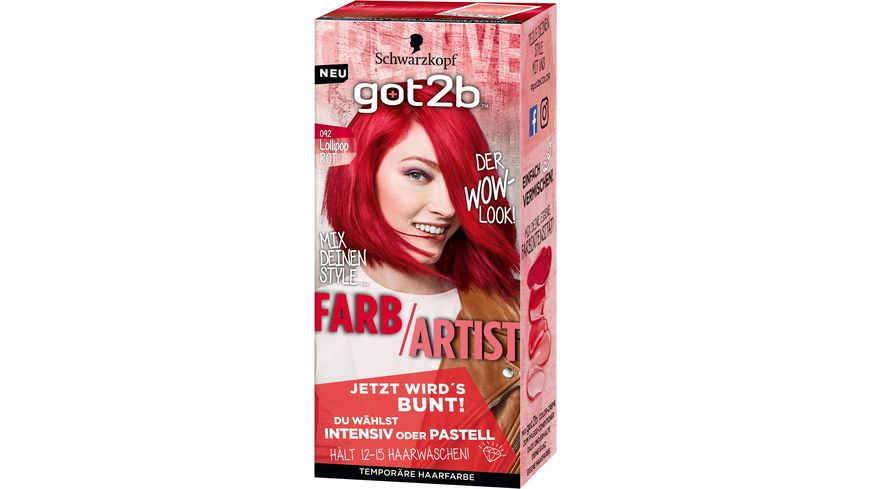Schwarzkopf got2b Farb Artist Lollipop Rot 092 Stufe 1