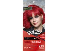 Schwarzkopf got2b Farb Artist Lollipop Rot 092