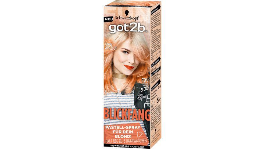 Schwarzkopf got2b Blickfang Candy Apricot Stufe 1