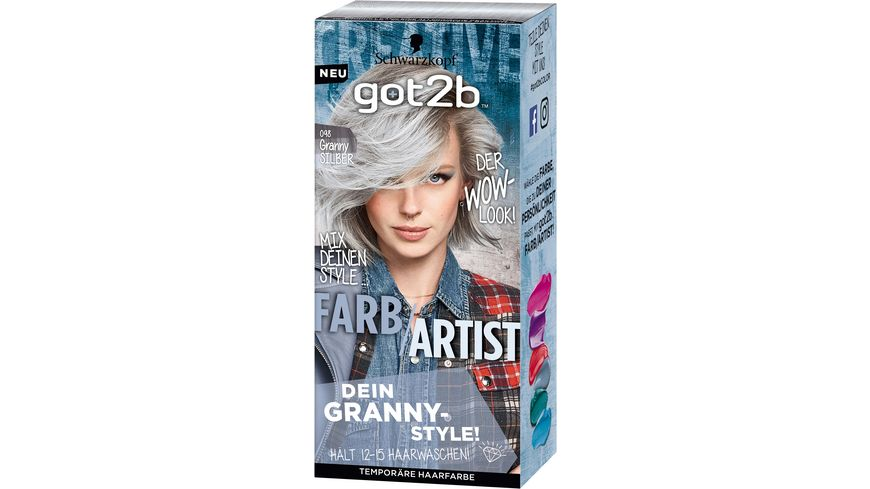 Schwarzkopf got2b Farb/Artist Granny Silber 098 Stufe 1 online ...
