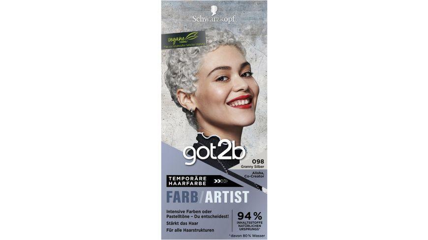 Schwarzkopf got2b Farb Artist Granny Silber 098